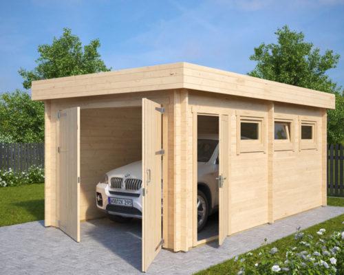 Lesena Garaža Hansa C (krilna garažna vrata)