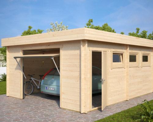 Lesena Garaža Hansa D (dvižna garažna vrata Hörmann)