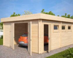 Lesena Garaža Hansa D (krilna garažna vrata)