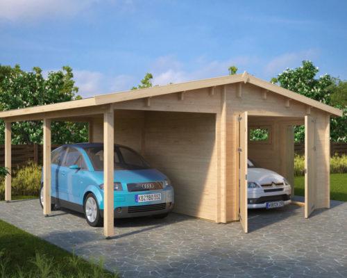 Lesena Garaža Hansa G (dvojna garažna vrata)