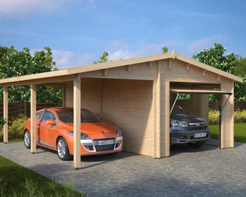 Lesena Garaža Hansa G (dvižna garažna vrata Hörmann)
