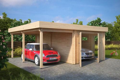 Lesena Garaža Hansa H (dvojna garažna vrata)