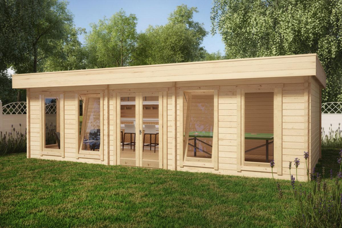 vrtna uta hansa garden room a 30m2 4 x 8 m 70mm. Black Bedroom Furniture Sets. Home Design Ideas