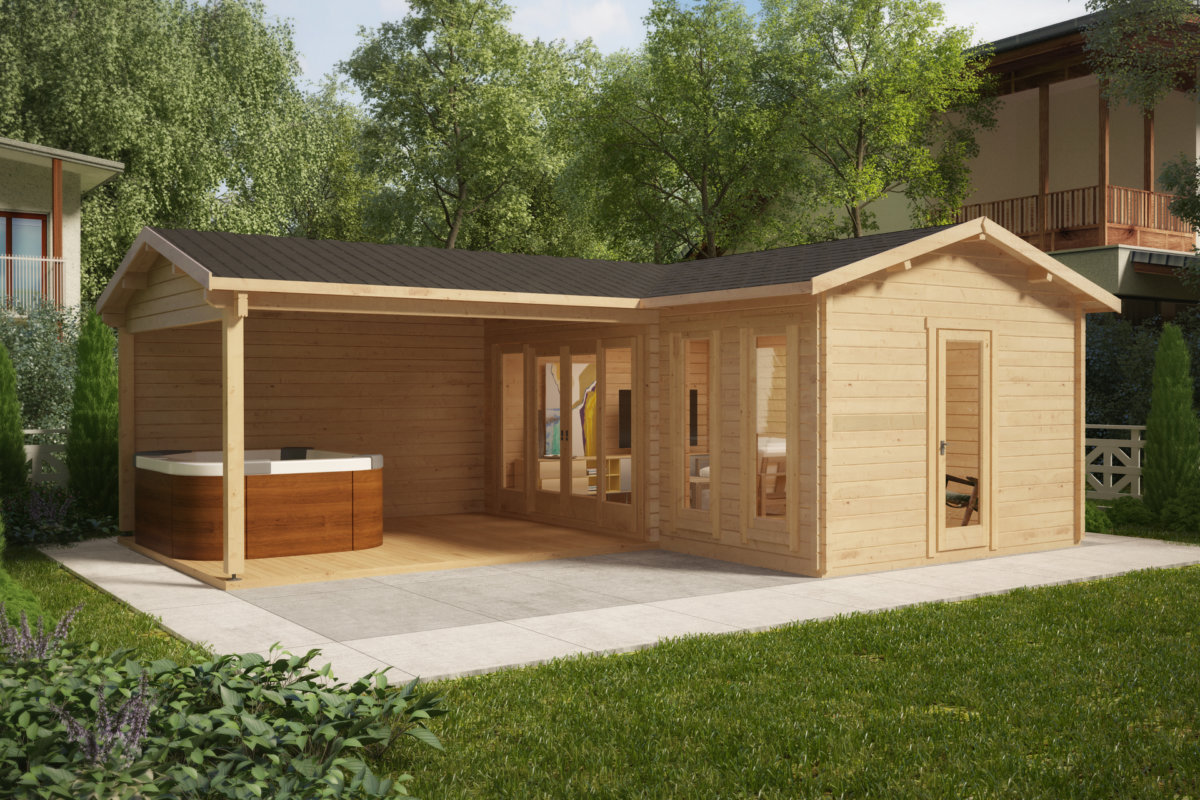 vrtna hi a hansa corner b 18m2 3 x 6 m 44mm vrtne ute 24. Black Bedroom Furniture Sets. Home Design Ideas