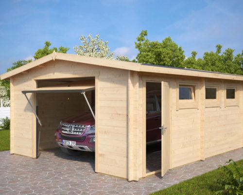 Lesena Garaža Hansa B (dvižna garažna vrata Hörmann)