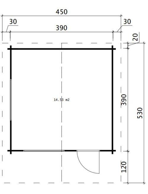 načrt hiške 9