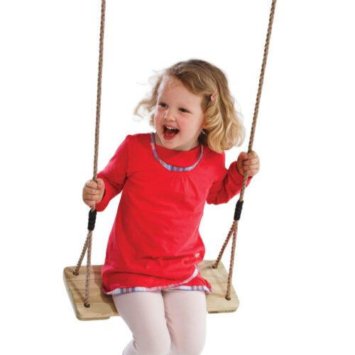 lesena gugalnica punčka